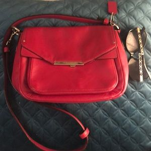 Red Coach cross body Leather bag